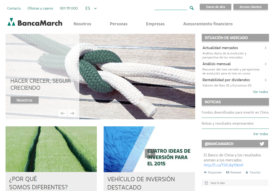 banca march trust redesigning its corporate website at intermark it